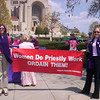 April 2005 - Pink Smoke Events & COR Press Conference : April 2005 was a solemn and busy month in the Catholic Church.  WOC was featured in the media, and you can view this at http://www.womensordination.org/pages/pressWOCin%20Media.  WOC also sent up Pink Smoke around the country symbolizing the lack of women in the conclave and all church decision making and governing bodies.  WOC initiated a Catholics for Renewal Press Conference with many of the church reform leaders in the U.S.