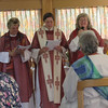 Switzerland RCWP Ordinations, June 2006 : On a boat on Lake Constance, three women were ordained as priests, and one as a deacon by the Roman Catholic Womenpriests.  Roman Catholic bishops Ida Raming, Patricia Fresen and Gisela Forester ordained the women.