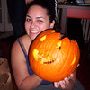 Oct. 2005 - DC YFN Pumpkin Carving : As one of the bi-monthly social events of the DC Metro Area Young Feminist Network, this Pumpkin Carving was a smashing success!  By the end of the night, 13 pumpkins were carved into creative and festive jill-and-jack-o-lanterns!